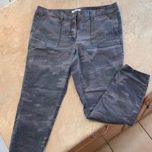 Loft gray skinny camo jeans size 14